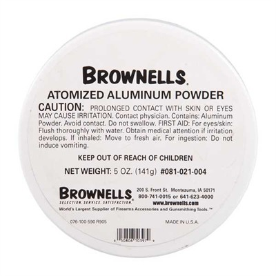 Brownells Atomized Metals - 5 Oz. Atomized Aluminum