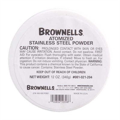 Brownells Atomized Metals - 12 Oz. Atomized Stainless Steel