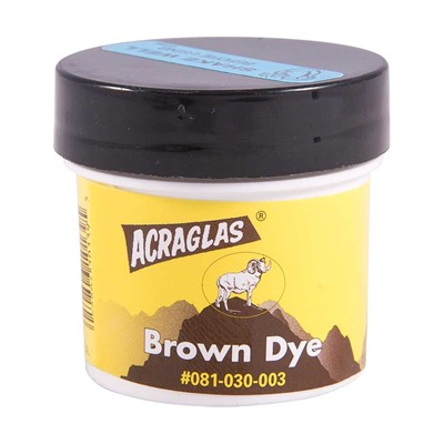 Brownells Acraglas Dyes - Acraglas Brown
