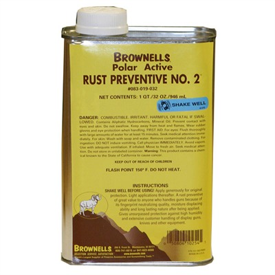Brownells Rust Preventive No. 2 - 1 Qt. Rp2