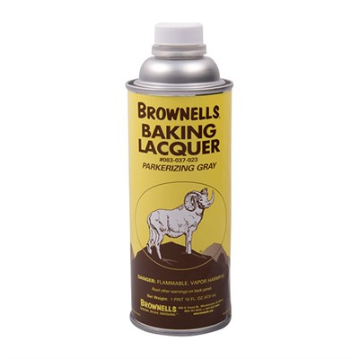 Brownells Baking Lacquer Liquid - 16 Oz. Parkerizing Gray