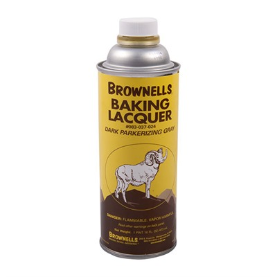 Brownells Baking Lacquer Liquid - 16 Oz. Dark Parkerizing Gray