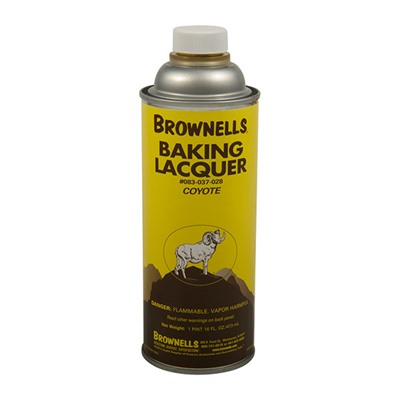 Brownells Baking Lacquer Liquid - 16 Oz. Coyote