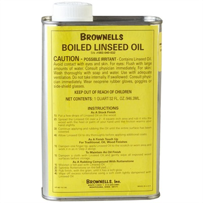 Brownells Boiled Linseed Oil - Quart Linseed Oil