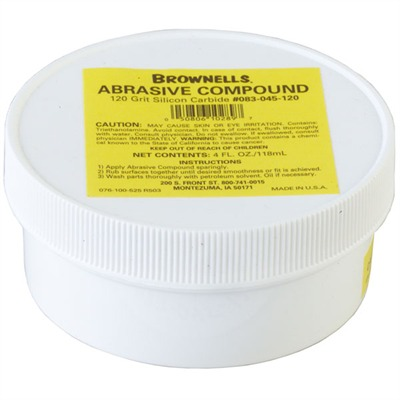 Brownells Silicon Carbide Abrasive Compound - 120 Grit Silicon Carbide Abrasive Compound