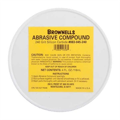 Brownells Silicon Carbide Abrasive Compound - 240 Grit Silicon Carbide Abrasive Compound
