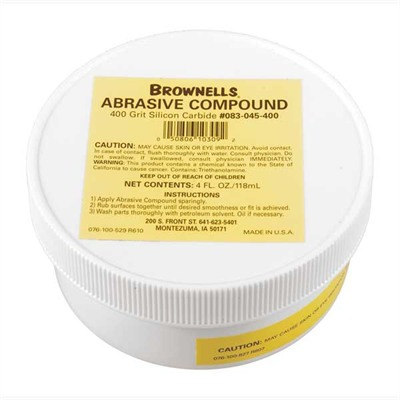 Brownells Silicon Carbide Abrasive Compound - 400 Grit Silicon Carbide Abrasive Compound