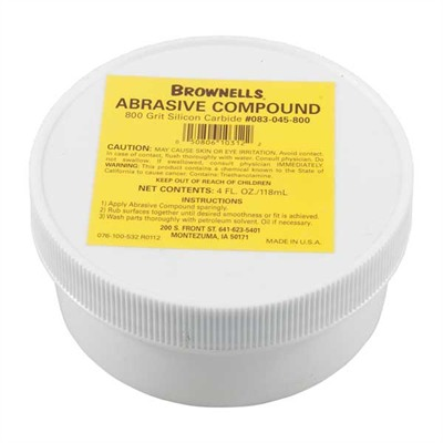 Brownells Silicon Carbide Abrasive Compound - 800 Grit Silicon Carbide Abrasive Compound