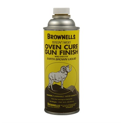Brownells Liquid Ptfe/Moly Gun Finish - Earth Brown, Pint
