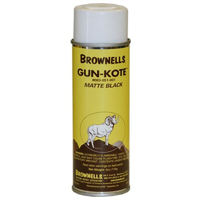 Gun-Kote™ Oven Cure, Gun Finish - Matte Black, Aerosol, 6oz.