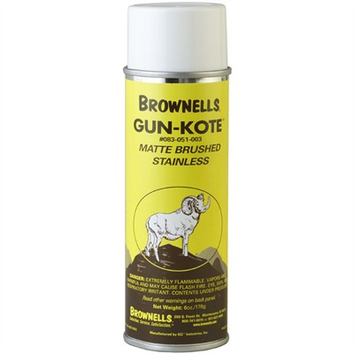 Gun-Kote™ Oven Cure, Gun Finish - Matte Brushed Stainless, Aerosol, 6oz.