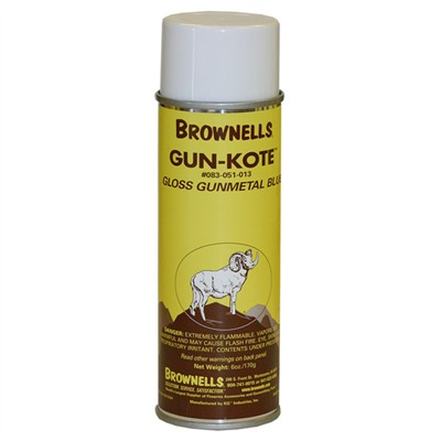 Gun-Kote™ Oven Cure, Gun Finish - Gloss Gunmetal Blue, Aerosol, 6oz.