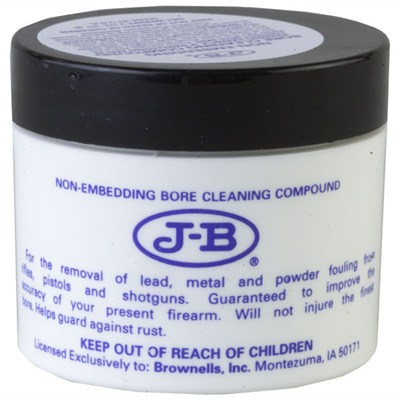 Brownells J-B Non-Embedding Bore Cleaning Compound - J-B Bore Cleaning Compound, 2 Oz.