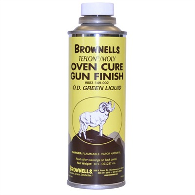 Brownells Liquid Ptfe/Moly Gun Finish - O.D. Green, 8 Oz.
