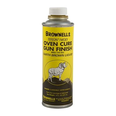 Brownells Liquid Ptfe/Moly Gun Finish - Earth Brown, 8 Oz.