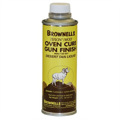 Brownells Liquid Ptfe/Moly Gun Finish - Desert Tan, 8 Oz.