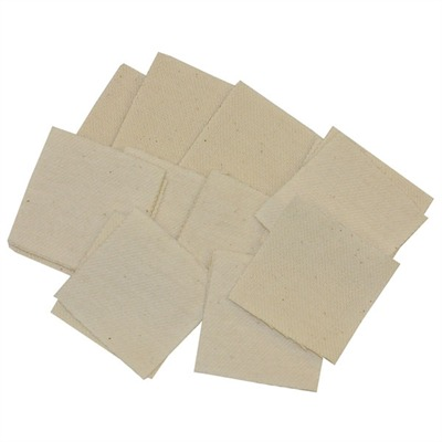 """Brownells Really Heavy Duty Patches Square Fits 2"""" .40 .50 Cal. 100 Pak"""