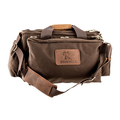 Brownells Signature Series Shooting Bag - Signature Series Shooting Bag, Dark Brown
