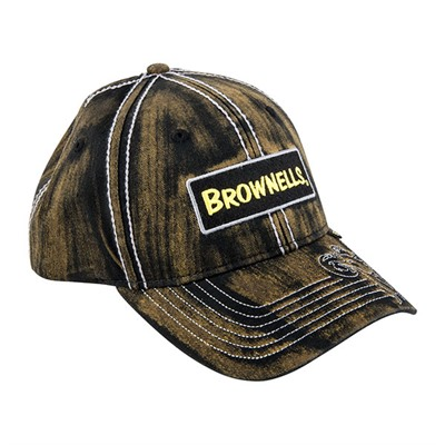 Brownells Brown W/Square Logo & Embroidered Ram Cap