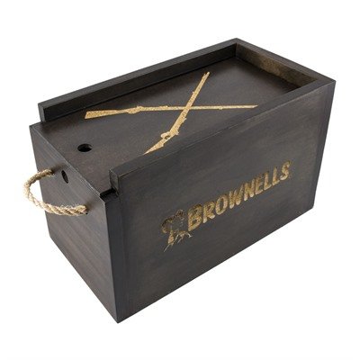 Brownells Decorative Ammo Box - Brownells Decorative Wooden Ammo Box