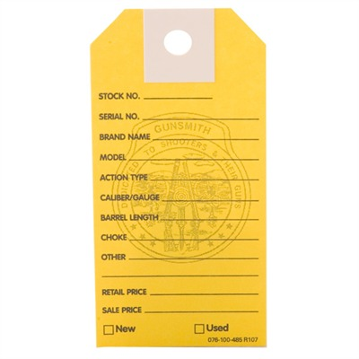 Brownells Gun Price Tags - 1000 Brownells Gun Price Tags, Yellow