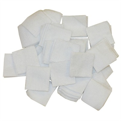 Brownells 100% Cotton Flannel Bulk Cleaning Patches - 17 Caliber (7/8