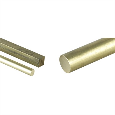 Brownells Brass Rounds Flats & Squares - 3/8