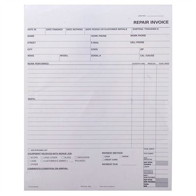 Brownells 100 2-Part Forms