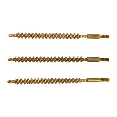 Brownells Standard Line Bronze Bore Brushes - 17 Caliber Rifle Brush 3/Pack