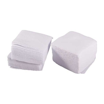 """Brownells 100 Paks 100% Cotton Flannel Cleaning Patches 2 1/2"""" Square .35 Rifle 20 Ga Online Discount"""