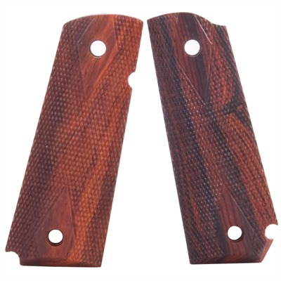 1911 Auto Cocobolo Grips Cocobolo Grips Bobtail Dbl Diamond Chk : Handgun Parts by Ed Brown for Gun & Rifle