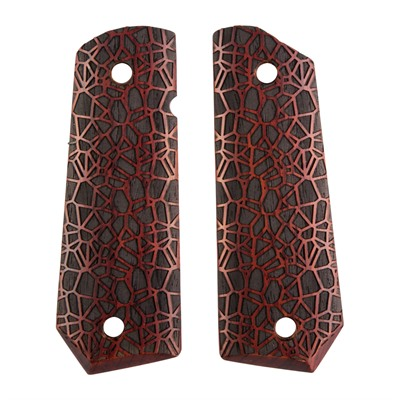 Ed Brown 1911 Labyrinth Grips - Labyrinth Grip, Cocobolo, Govt Bt