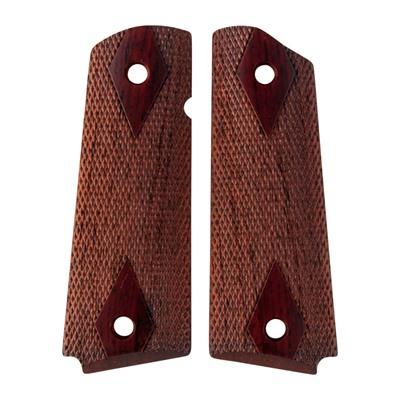 Ed Brown 1911 Double Diamond Cocobolo Grips - Government Double Diamond Cocobolo Grips