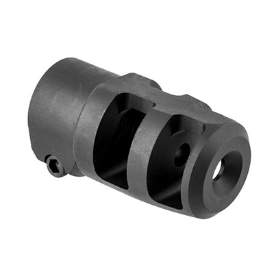 Mini Fte Muzzle Brake 22 Caliber - Mini Fte Muzzle Brake 22 Caliber 5/8-24 Steel Black