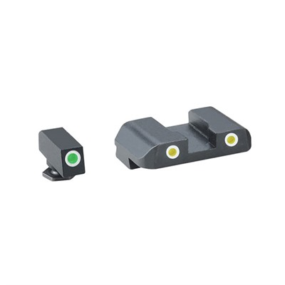 Ameriglo Pro Tritium Night Sight Sets For Glock - Pro, G/Y, Fits 17,19,22,23,24,26,27,33,34,35,37,38,39