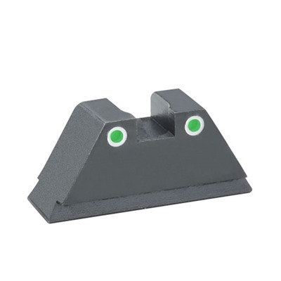 "Rear Sights For Glock Rear Tritium Green 394 High W/ 150"" Wide Notch Fits All Discount"