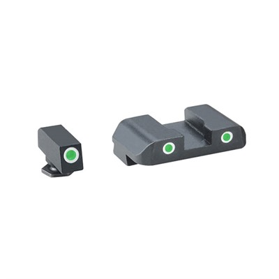 Pro Tritium Night Sight Sets For Glock® - Pro, G/G. Fits 17,19,22,23,24,26,27,33,34,35,37,38,39