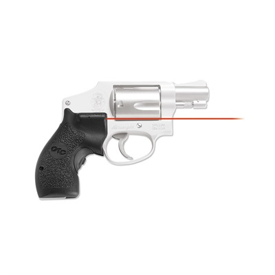 Crimson Trace Corporation S&W J-Frame Round Butt Front Activation Lasergrips - S&W J-Frame Round Butt Red Lasergrips