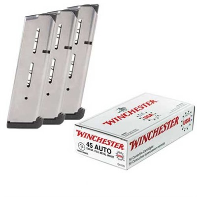 Brownells Usa White Box Ammo 45 Acp 230gr Fmj Ammo Can