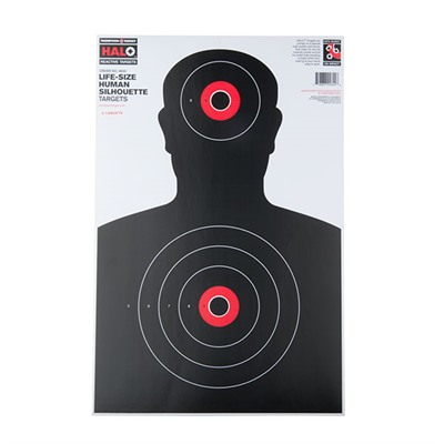 Clip & Shoot All In One Target Stand And Halo Reactive Targets 12 5x19 Human Silhouette Halo Target 5pk U.S.A. & Canada