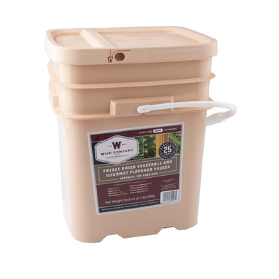 Wise Foods 120 Serving Freeze Dried Vegetable & Sauce Grab And Go Food Kit 120 Serving Freeze Dried Vegetable & Sauce Grab & Go Food