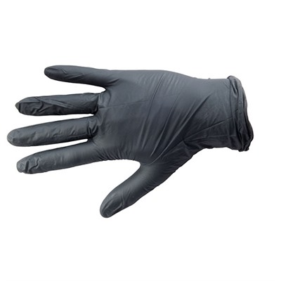 Ammex Corp. 100-015-848 Black Nitrile Medical Grade Glove, Textured