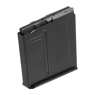 Eurooptic Ltd Long Action Aics 5rd Magazine .338 Lapua - Long Action Aics Magazine .338 Lapua 5rd Steel Black