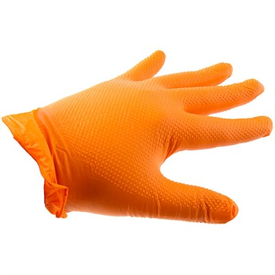 Orange Nitrile Hd Gloves - Orange Nitrile Heavy Duty Gloves-Large