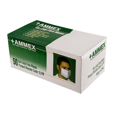 Image of Ammex Corp. Ear Loop Face Masks