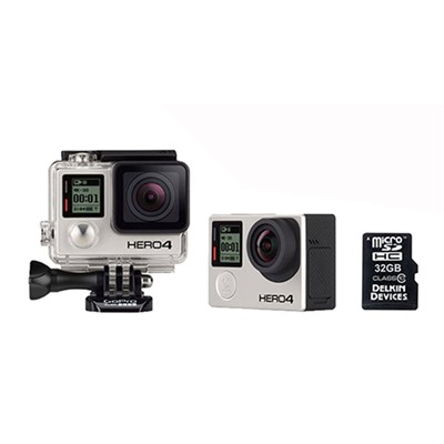 Gopro Hero4 Black Action Camera - Gopro Hero4 Black Starter Bundle