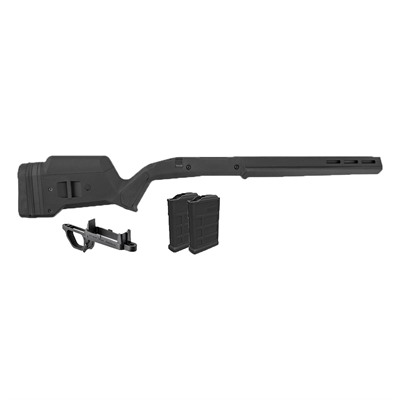 Magpul Remington 700 Hunter S/A Stock W/Bottom Metal & 2 7.62 Mags - Rem 700 Hunter Stock W/ Bottom Metal & 2 7.62 Mags Black