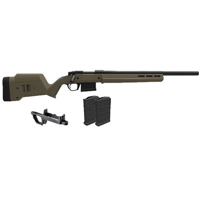 Magpul Remington 700 Hunter S/A Stock W/Bottom Metal & 2 7.62 Mags - Rem 700 Hunter Stock W/ Bottom Metal & 2 7.62 Mags Fde