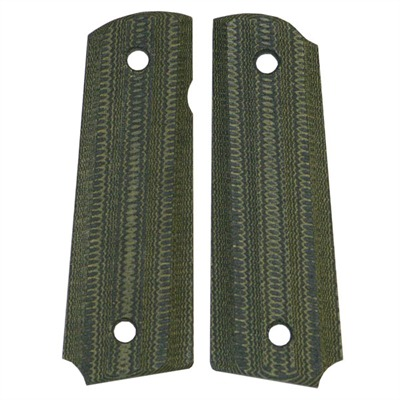 "1911 Auto ""gator-back"" Grips Grn / blk Linen Micarta 1911 Grips, Std. : Handgun Parts by Vz Grips for Gun & Rifle"