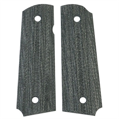 "1911 Auto ""gator-back"" Grips Blst. Blk Canvas Micarta 1911 Grips St : Handgun Parts by Vz Grips for Gun & Rifle"